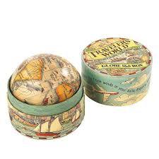 traveller s world globe in a box earth map ornament