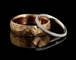 hammered wedding band hammered wedding bands mccaul goldsmiths
