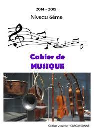 Calaméo  cahier de musique 6ème