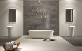 Laminate Wood Flooring Bathroom Alluring Modern Bathroom Design Ideas Feature Brown Laminated