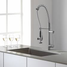 Commercial Kitchen Sink Faucet Pewter Commercial Kitchen Sink Faucet Centerset Single Handle Pull