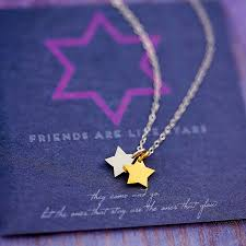 star friendship necklace images Tiny star necklace on friendship card by j s jewellery jpg