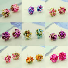 plastic stud earrings discount plastic flower stud earrings 2017 plastic flower stud