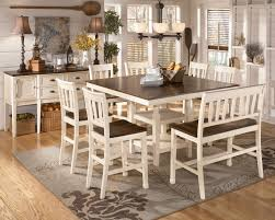 Counter Height Dining Room Table Whitesburg 9 Piece Square Counter Height Extension Table Set In