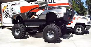 delorean monster truck 44 u2033 super swamper tires u2013 america loves