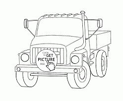 small truck join the dots coloring page for kids transportation