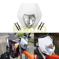 aliexpress com buy new rmz universal motorcycle headlight lamp white streetfighter dirt bike
