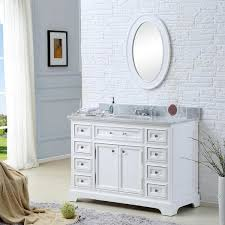 Water Creation Derby Inch Solid White Single Sink Bathroom - White single sink bathroom vanity