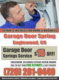 Overhead Door Coupon by Garage Door Spring Englewood Garage Door Installation