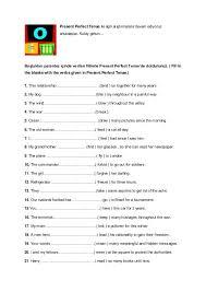 the 25 best present perfect tense exercises ideas on pinterest