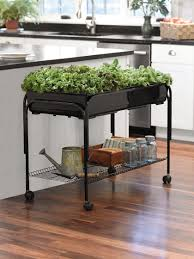 indoor planters mobile salad garden gardener u0027s supply