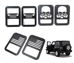 jeep wrangler sport accessories sunroadway 2 x l light cover trim guards protector