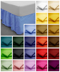 poly cotton base valance bed sheets in plain dyed colours single