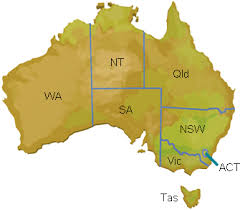 australia map capital cities facts for students australia ftfs