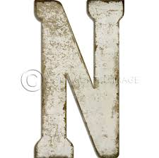 spicher and company letter n white cutout