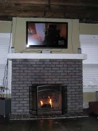 painted brick fireplace before and after wpyninfo