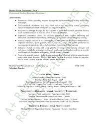 resume for teachers exles exles of resumes for teachers preschool resume sles