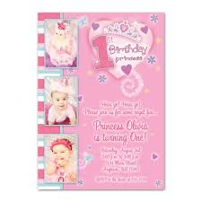 princess 1st birthday invitations princess 1st birthday