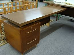 Midcentury Modern Desk - furniture mid century modern desk with grey carpet and small