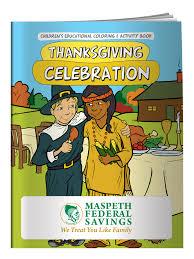 custom coloring book thanksgiving celebration promotional