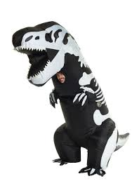 inflatable skeleton t rex costume for