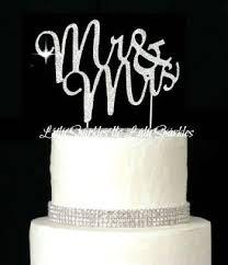 mr and mrs wedding cake toppers lulu sparkles llc rhinestone bling wedding monogram mr mrs