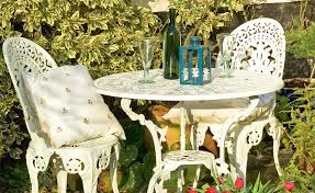 Metal Garden Chairs And Table Reviving Metal Garden Furniture Period Living