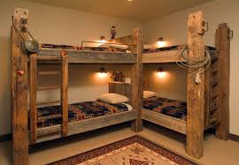 Cowboy Bunk Beds Traditional Style Bunk Beds Featuring Timbers And Western Accents