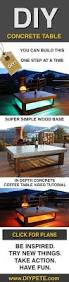 How To Build An End Table Video by Best 25 Homemade Outdoor Furniture Ideas On Pinterest Outdoor