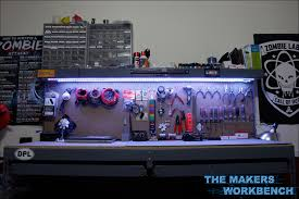rgb led strip lighting rgb led under shelf bench lighting the makers workbench