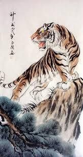 tiger decor mountain tiger tiger painting original