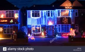 Christmas Lights House by Semi Detached Houses Decorated With Christmas Lights In Surrey