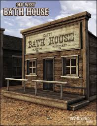 old west bath house 3d models and 3d software by daz 3d old