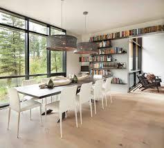 coin bureau dans salle à manger moderne maison rustique à l architecture et agencement créatif au