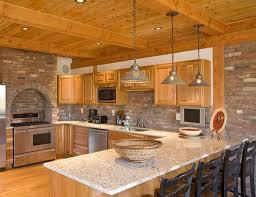 brick kitchen ideas 15 charming brick kitchen designs home design lover