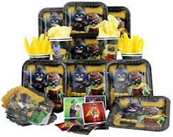 batman party supplies lego batman party pack seats 8 napkins plates cups