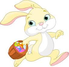 clipart easter bunny with basket
