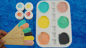 easy to make frozen paint for kids colours for children to learn