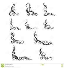 set of ornaments with decorative graphic elements stock vector
