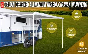 Caravan Retractable Awnings New Caravan Awning Roll Out 3 5m X 2 5m Italian Designed Aluminium