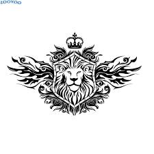 Fashionable Home Decor Zooyoo Crown Lion Shield Wall Sticker Fashionable Home Decor