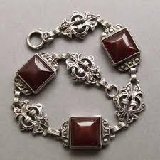 antique sterling silver bracelet images 112 best charm bracelet images vintage charm antique jpg