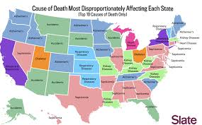 map usa alabama map the most common causes of in each state of the union