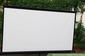 Backyard Projector Screen by 3 Ways To Create An Outdoor Movie Theater Wikihow