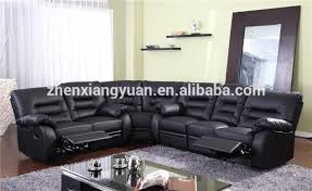 Large Black Leather Sofa New Style Black Leather Recliner Corner Sofa Set With Wedge Buy