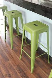 how to paint and distress metal bar stools like a pro