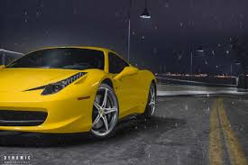 ferrari yellow 458 458 dashing through the snow by josh hway