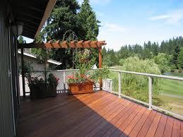 design glass deck railing systems delightful outdoor ideas
