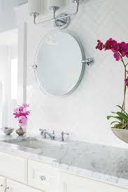 Mirrored Subway Tile Backsplash Bathroom Transitional With by 502 Best Bathroom Images On Pinterest Sweet Home Architecture