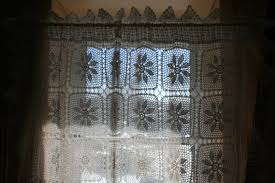 Crochet Lace Curtain Pattern Diy Supply Handmade Crochet Lace Tablecloth As Window Panel The